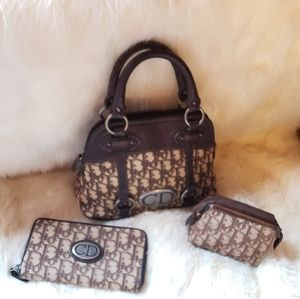 Christian Dior Brown Monogram Bag Set